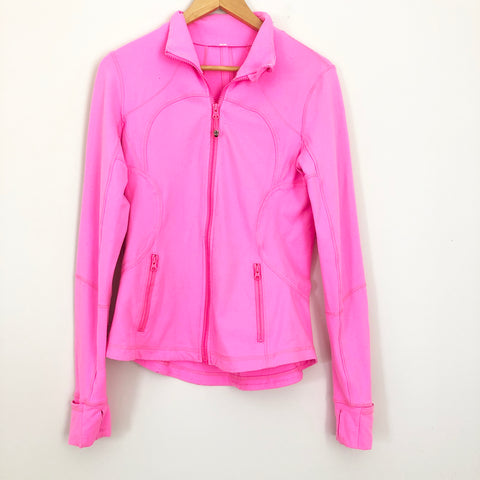 Lululemon Hot Pink Zip Up Jacket with Pockets- Size 8