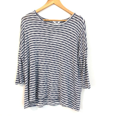 Jack by BB Dakota Striped 3/4 Sleeve Top NWT- Size XS