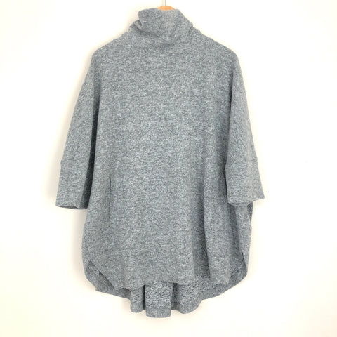 Caslon Grey Sweater Zip Back Pullover Turtleneck- Size M/L