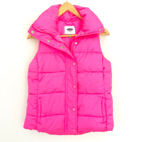 Old Navy Hot Pink Puffer Vest- Size XS