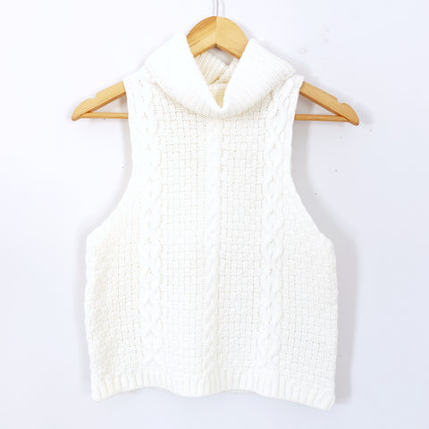 Bishop + Young Cream Sleeveless Sweater- Size S
