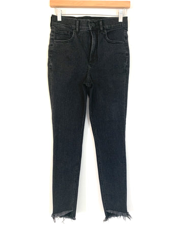 "Express Black Ankle Legging Super High Rise Jeans- Size 2R (Inseam 26"")"