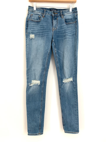 "Vigoss Light Wash Super Skinny Jagger Distressed Jeans- Size 27 (Inseam 28"")"