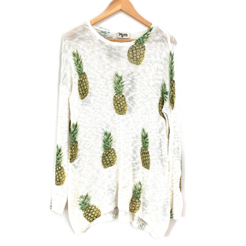 Show Me Your Mumu Pineapple Open Knit Sweater- Size XS