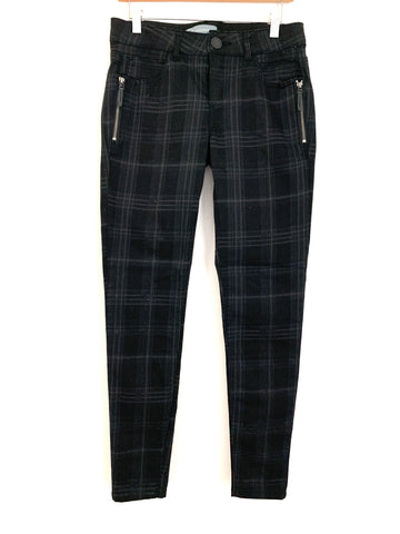 "Wit & Wisdom Plaid Black Pants- Size 4 (Inseam 30"")"