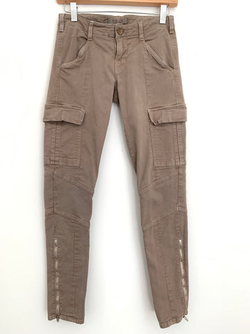 "J Brand Taupe Fitted Cargo Pants- Size 26 (Inseam 27"")"