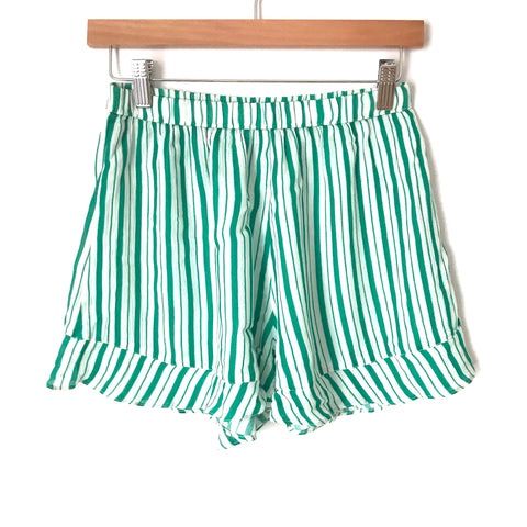 Lovers + Friends Green and White Striped Two Piece Short Set- Size S (SOLD AS SET)
