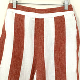 Madewell Striped Wide Leg Crop Pants- Size S