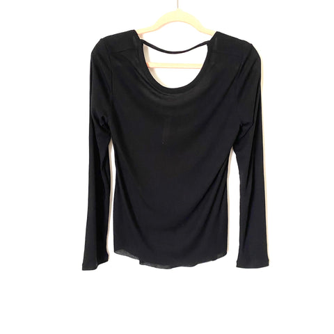 Core 10 Black Open Back Long Sleeve Top- Size S