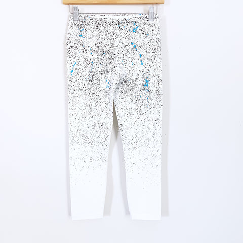 "Splits59 White Paint Dot White Leggings- Size XS (Inseam 22"")"