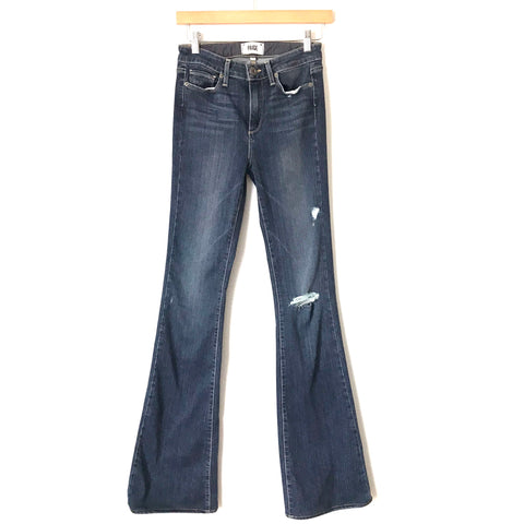 "Paige High Rise Bell Canyon Distressed Jeans- Size 26 (Inseam 33.5"")"