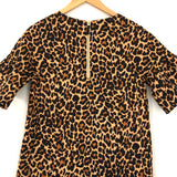 J Crew Crewcuts Youth Girl's Leopard Shift Dress with Exposed Zipper and Pockets- Size 14 (see notes)