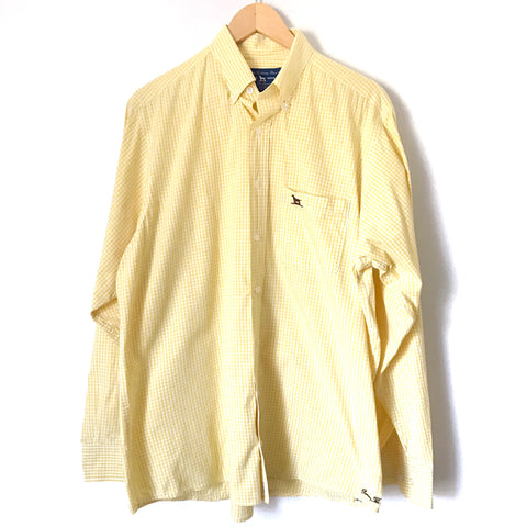 Over Under The Liberty Shirt in Yellow Gingham- Size L