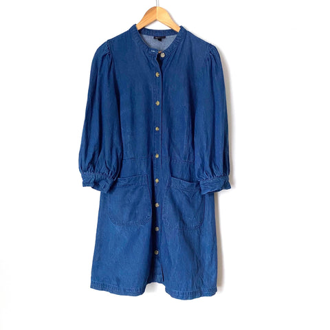Who What Wear 3/4 Puff Sleeve Denim Dress- Size L (see notes)