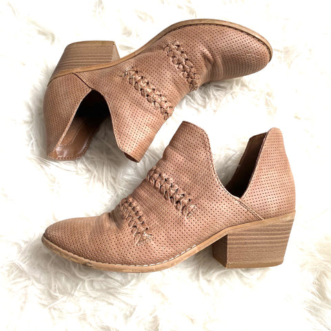 Universal Thread Brown Side Cut Out Booties- Size 9