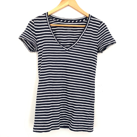 J. Crew Vintage Cotton Striped V-neck Tee- Size XXS