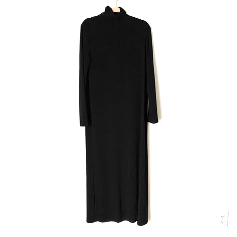 Norma Kamali Black Turtleneck Maxi Dress- Size M (see notes)