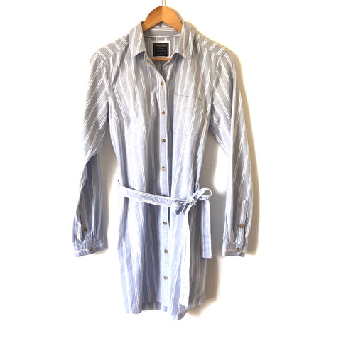 Abercrombie & Fitch Striped Chambray Button Down Dress NWT - Size S