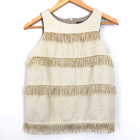 Sunday in Brooklyn Gold Fringe Crop Top - Size XS