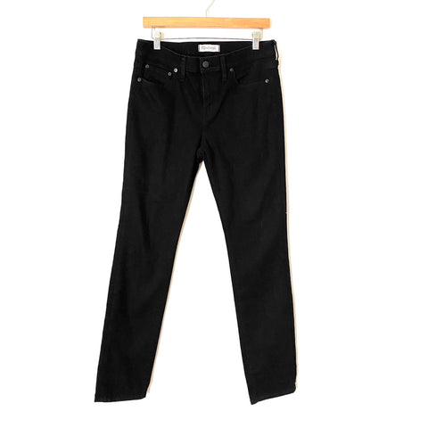 "Madewell Alley Straight Black Denim Jeans- Size 30 (Inseam 32"")"