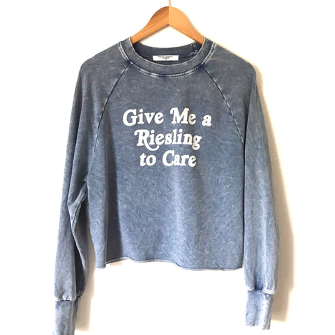 "Project Social T ""Give Me a Riesling to Care"" Pullover Thin Sweatshirt- Size S"