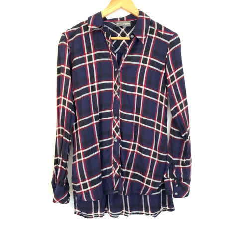 Michael Stars Plaid Button Up- Size XS