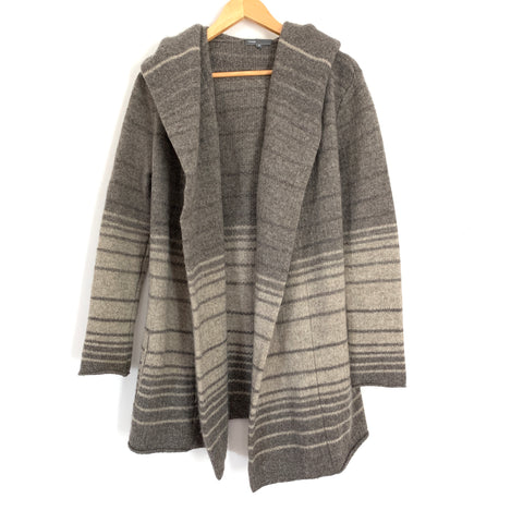 Vince Brown Oversized Wool Blend Cardigan- Size XS