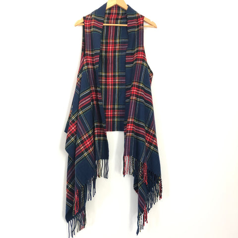 No Brand Classic Plaid Vest- One Size