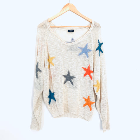 Blank Paige Colorful Star Sweater Thin Open Weave- Size S