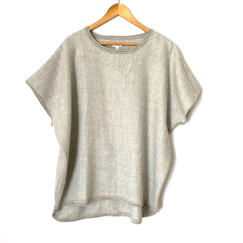 Cuyana Grey Oversized Sweater Shirt- Size M/L