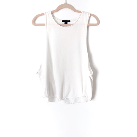 Forever 21 White Open Back Tank- Size S (Jana, see notes)