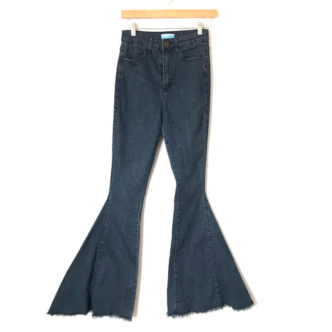 "Show Me Your Mumu Blue Berkeley Zip Up Bell Jeans- Size 25 (Inseam 32.5"")"