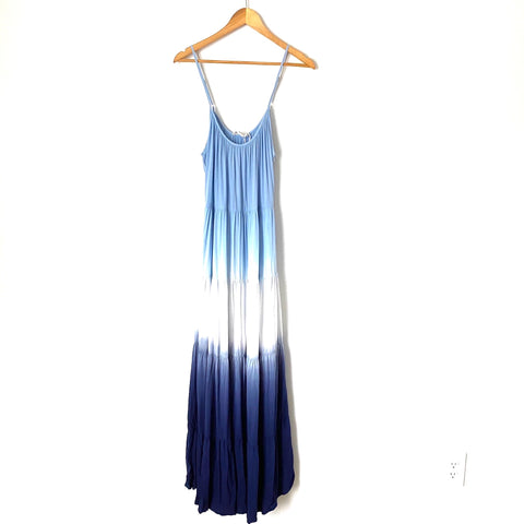 Lovestitch Blue Ombré Maxi Dress- Size L (see notes)