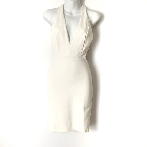 Lulus Ivory Halter Lined Dress- Size S (see notes)
