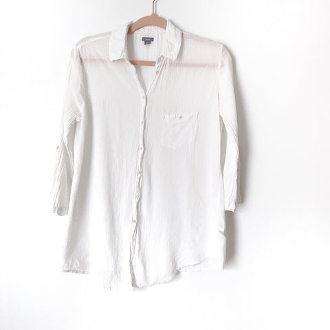 Aerie White Button Up 3/4 Sleeve Top- Size S (Jana, see notes)