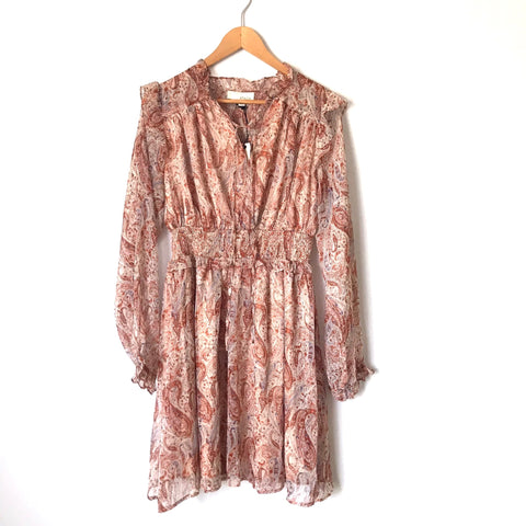 PINCH Paisley Long Sleeve Dress NWT- Size L