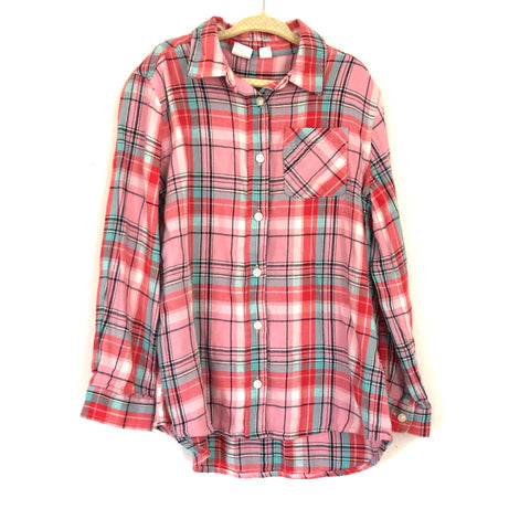 Gap Kids Pink Plaid Top NWT- Size Small (6-7)