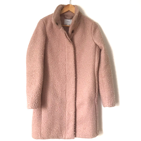 Old Navy Pink Button Up Long Coat-Size S
