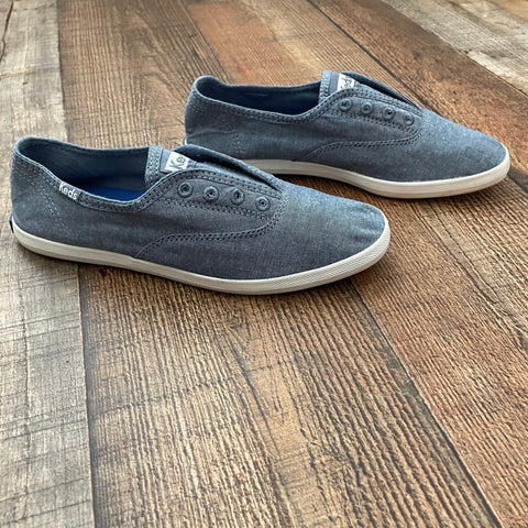 Keds Blue Slip On Sneakers - Size 6