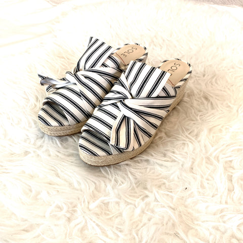 Sole Society Striped Carima Espadrille Wedge (BRAND NEW)- Size 7