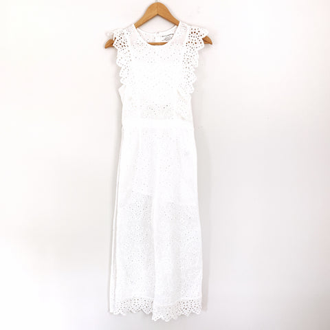 Dreamers White Eyelet Crop Jumpsuit- Size S (See notes!)