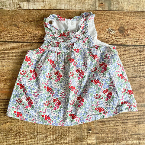Janie & Jack Floral Open Back Top- Size 6-12M