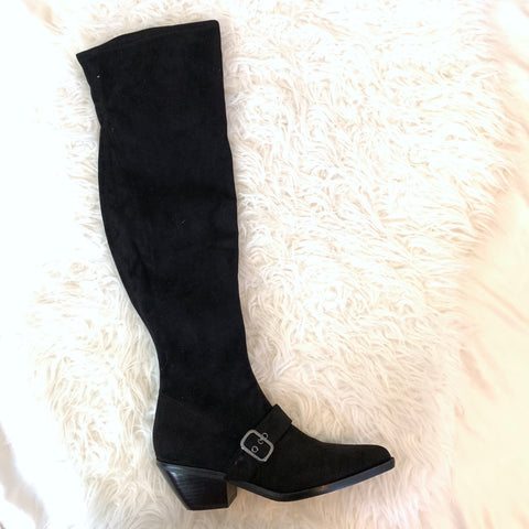 Marc Fisher Black Suede Over the Knee Boots (BRAND NEW)- Size 7