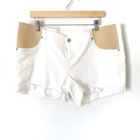 Time&Tru White Maternity Shorts- Size L (see notes)
