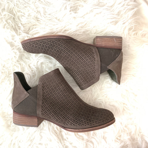 Vince Camuto Dark Grey Perforated Booties- Size 8.5