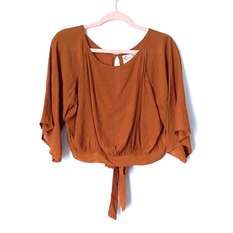 Mia Joy Burnt Orange Open Back Cropped Top NWT- Size S (Jana) we have matching skirt