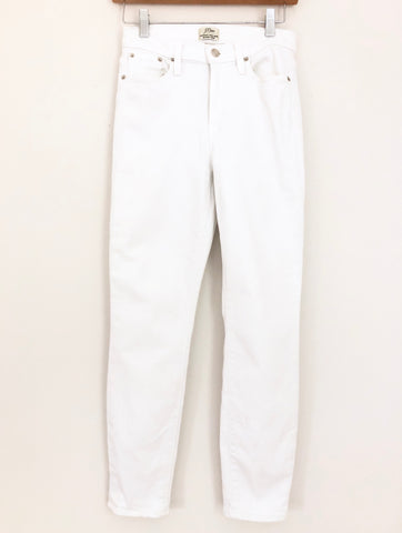 "J Crew White Lookout High Rise Skinny Crop Jeans- Size 26 (Inseam 26"")"