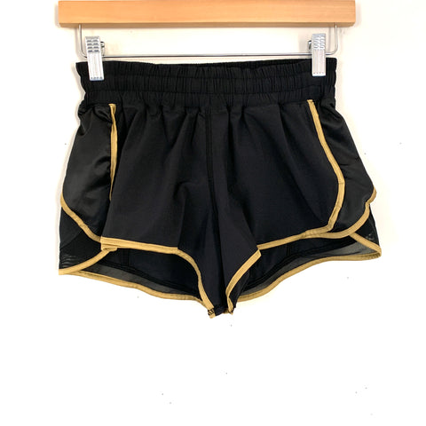 Lululemon Black and Gold Shorts- Size ~4