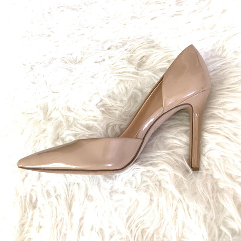 Jessica Simpson Nude Patent Leather Pumps- Size 6.5