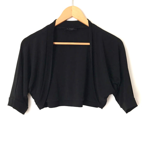B. Smart Black Round Hem Cropped Cardigan- Size ~S